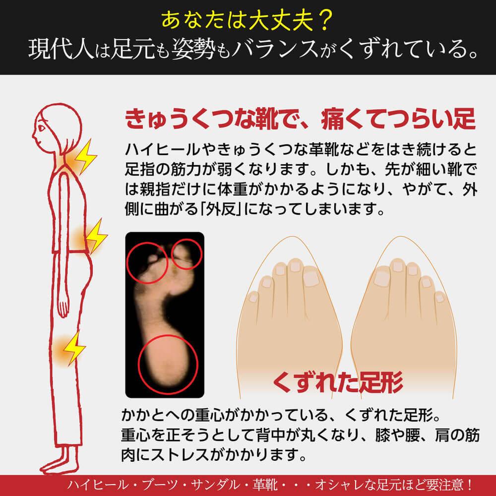 足ゆび運動ぞうり 八代産い草モデル +プラス 足ゆび運動ぞうり 現代人は足元も姿勢もバランスがくずれている